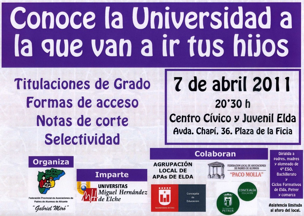 Photo of Charla para conocer la universidad UMH de Elche