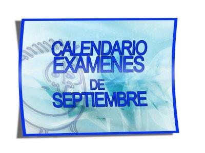 Photo of Calendario exámenes de septiembre