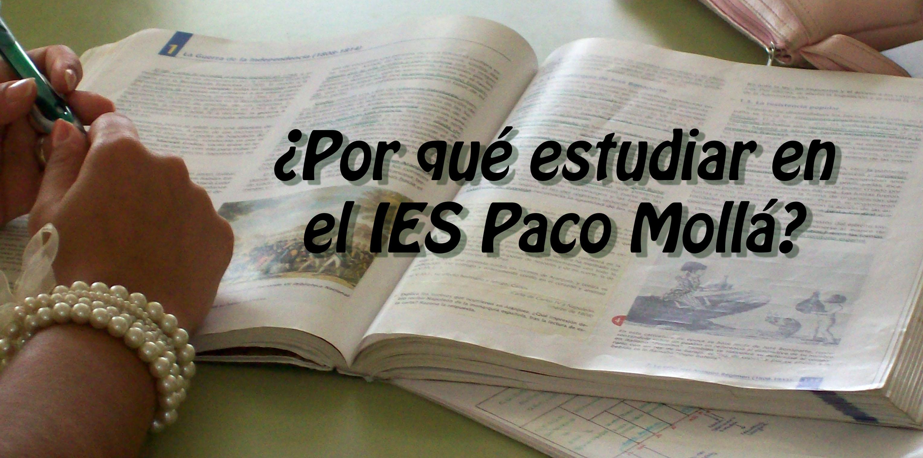 Photo of ¿Por qué estudiar en el IES Poeta Paco Mollá?