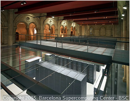 Photo of Visita al superordenador Mare Nostrum de Barcelona en el BSC – CNS (Barcelona Supercomputing Center – Centro Nacional Supercomputación).