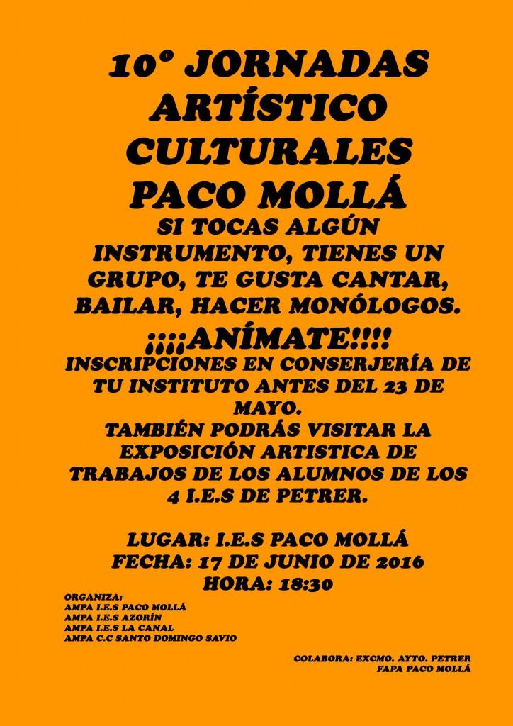 Photo of 10º JORNADAS ARTÍSTICO-CULTURALES IES POETA PACO MOLLÁ