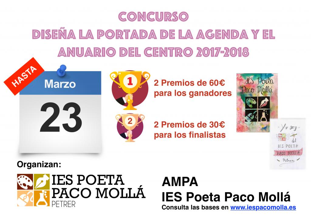 Photo of IV EDICIÓN DEL CONCURSO DE DIBUJO CREA LA PORTADA DE LA  AGENDA Y EL ANUARIO DEL CENTRO 2017-2018