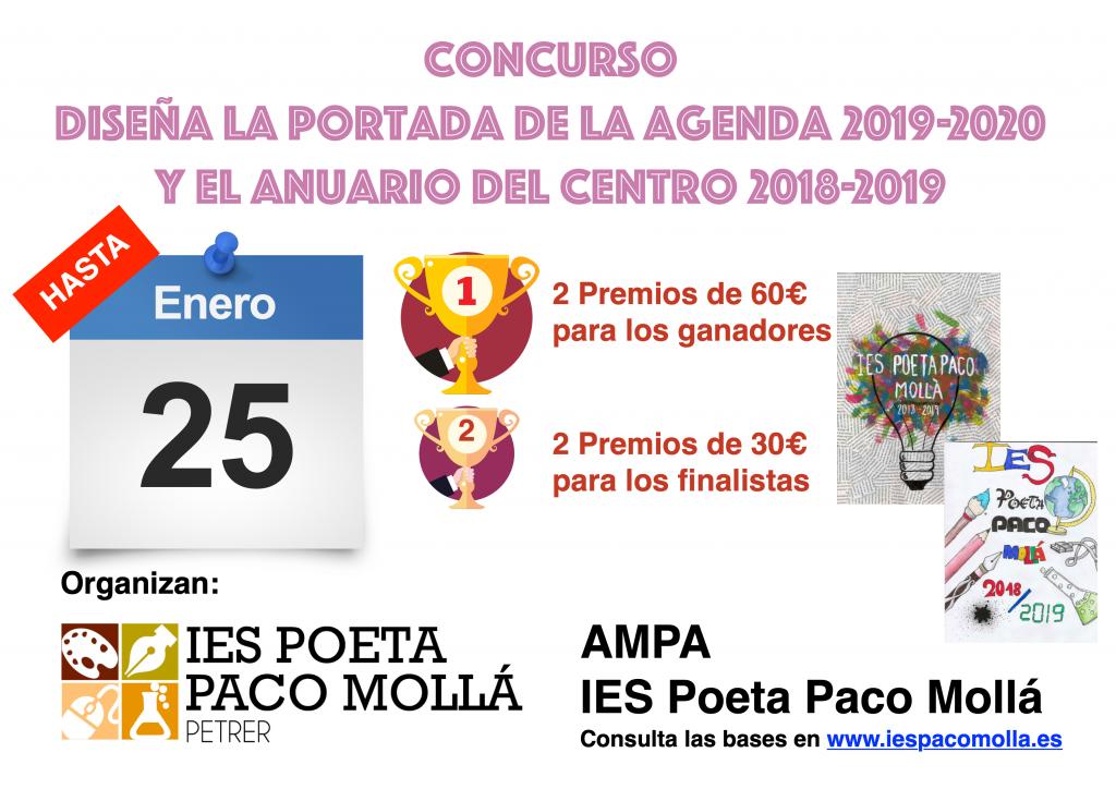 Photo of V EDICIÓN DEL CONCURSO DE DIBUJO CREA LA PORTADA DE LA  AGENDA Y EL ANUARIO DEL CENTRO 2018-2019