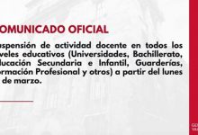 Photo of Comunicado oficial