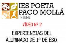 Photo of VÍDEO Nº 2 – Experiencias del alumnado de 1º de ESO