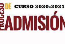 Photo of RESOLUCIÓN de 15 de mayo de 2020, de instrucciones para el procedimiento de admisión